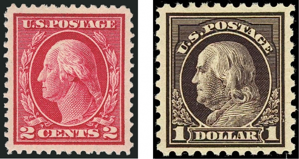 "ETATS-UNIS : La série ""WASHINGTON-FRANKLIN"" (1908-1920)"